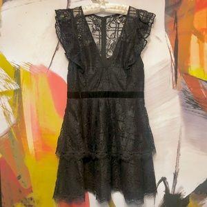 La Maison Talulah Feminino Lace Dress in Black